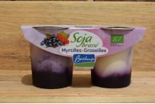 Yaourt Soja Myrtille-Groseille